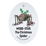 The Christmas Spider Ornament #1 (Oval)