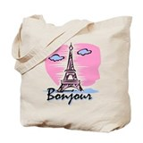 Bonjour Paris Tote Bag