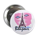Bonjour Paris 2.25&quot; Button