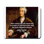 Philosophy John Locke Mousepad 