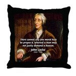 Philosophy John Locke Throw Pillow