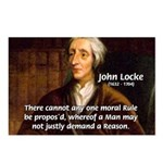 Philosophy John Locke Postcards (Package of 8)