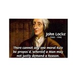 Philosophy John Locke Rectangle Magnet (100 pack)