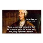 Philosophy John Locke Rectangle Sticker