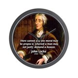 Philosophy John Locke Wall Clock