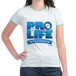 Pro-Life, from conception to Jr. Ringer T-Shirt