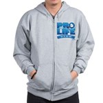 Pro-Life, from conception to Zip Hoodie