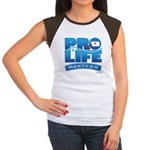 Pro-Life, from conception to Women's Cap Sleeve T-