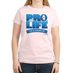 Pro-Life, from conception to Women's Light T-Shirt