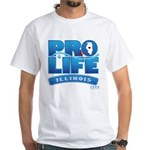 Pro-Life, from conception to White T-Shirt