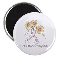 Pink For Mom Magnet