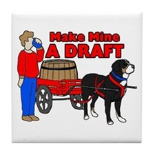 Greater Swiss Mtn Dog - Draft Tile Coaster