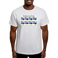 Holidays on Kwaj (Ash Grey T-Shirt)