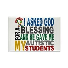 Blessing 5 Autistic Students Rectangle Magnet