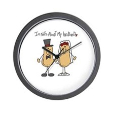 Nuts About My Husband Wall Clock