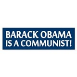 Barack Obama Is A Communist Bumper Car Sticker