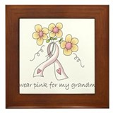 Pink For Grandma Framed Tile