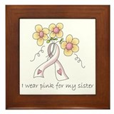 Pink For Sister Framed Tile