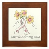 Pink For Aunt Framed Tile