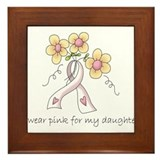 Pink For Daughter Framed Tile