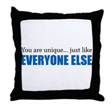 You Are Unique Throw Pillow