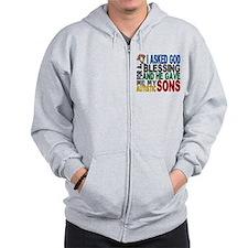 Blessing 5 Autistic Sons Zip Hoodie