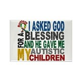 Blessing 5 Autistic Children Rectangle Magnet