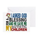 Blessing 5 Autistic Children Greeting Cards (Pk of