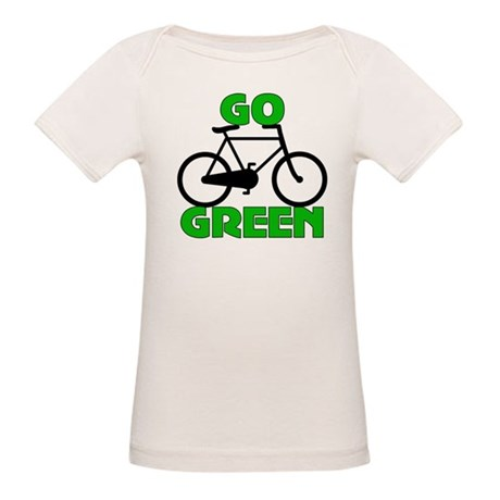 Go Green Bicycle Ecology Organic Baby T-Shirt