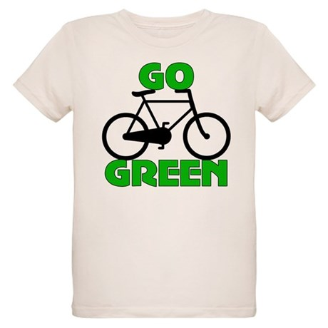 Go Green Bicycle Ecology Organic Kids T-Shirt