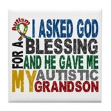 Blessing 5 Autistic Grandson Tile Coaster