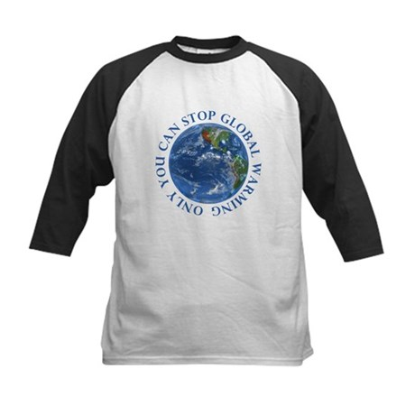 Stop Global Warming T-Shirts Kids Baseball Jersey