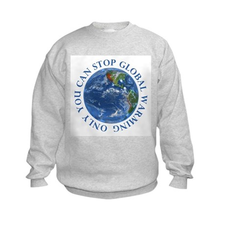 Stop Global Warming T-Shirts Kids Sweatshirt