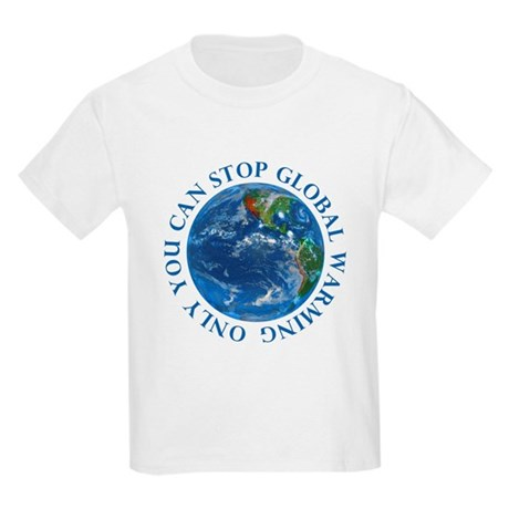 Stop Global Warming T-Shirts Kids Light T-Shirt