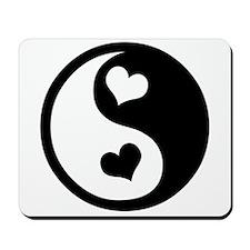 Heart Yin Yang Mousepad