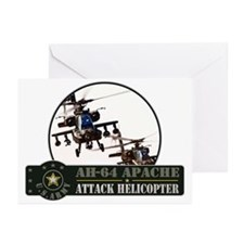 AH-64 Apache Helicopter Greeting Cards (Pk of 10)