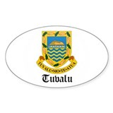Tuvaluan Coat of Arms Seal Oval Decal