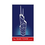 Sears Tower Always Rectangle Decal