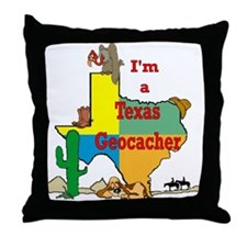 Cute Texas hunting Throw Pillow