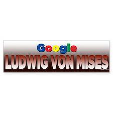 Google Ludwig Von Mises Bumper Bumper Sticker
