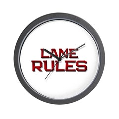 lane rules Wall Clock
