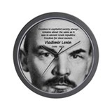Capitalism and Lenin Wall Clock