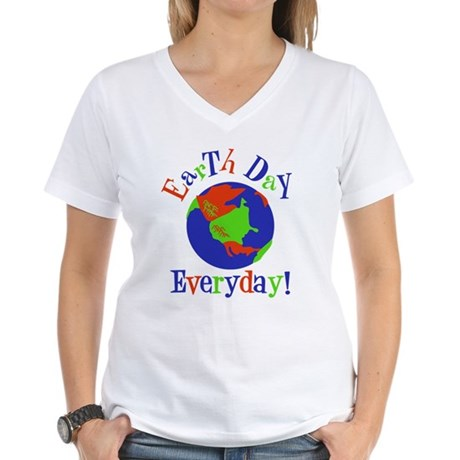 Earth Day t-shirts Women's V-Neck T-Shirt