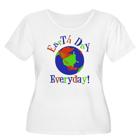 Earth Day t-shirts Women's Plus Size Scoop Neck T-