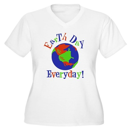 Earth Day t-shirts Women's Plus Size V-Neck T-Shir