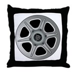 Movie Reel Throw Pillow
