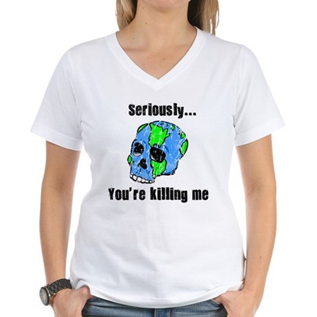 Killing the Earth Women's V-Neck T-Shirt