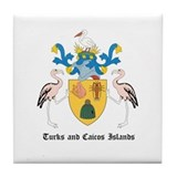Turkmen Coat of Arms Seal Tile Coaster
