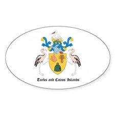 Turkmen Coat of Arms Seal Oval Decal