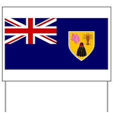 Turks and Caicos Islands Fla Yard Sign